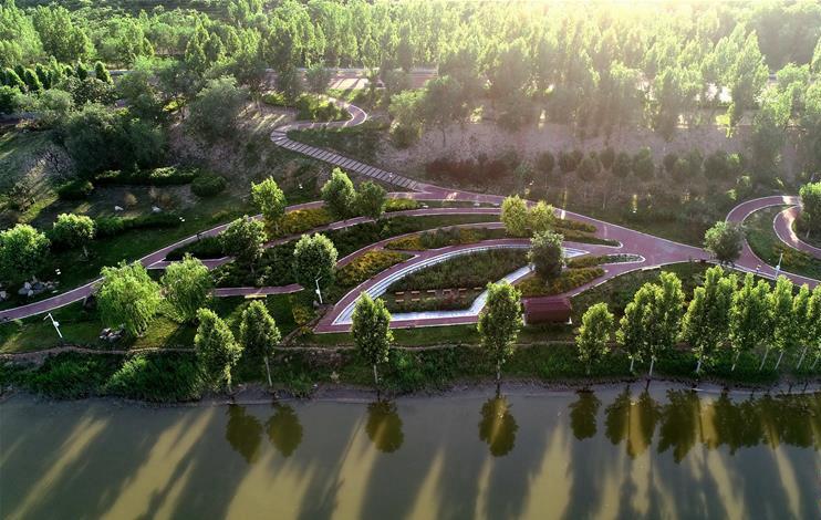 河北巨鹿:闲置河滩地变身生态游园