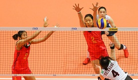 女排大奖赛香港站 中国女排3-1胜日本