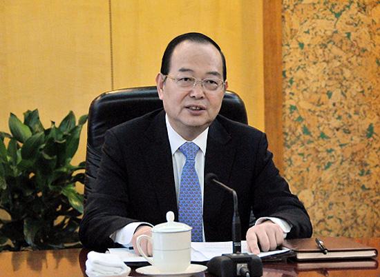 人民日报社社长杨振武。(摄影:李国良)