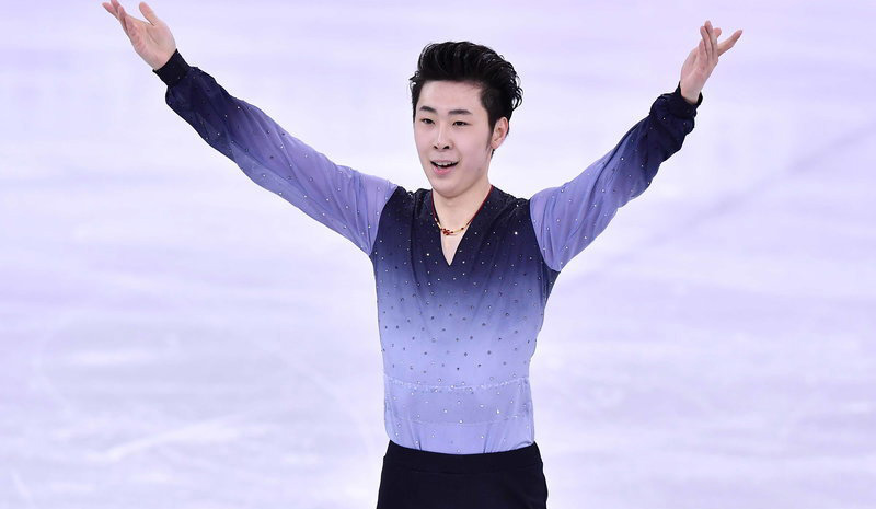 金博洋获得花样滑冰男单第四名