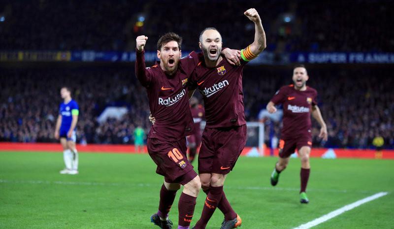 欧冠1/8决赛 梅西救主 巴塞罗那1-1切尔西