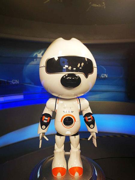"""机器人""""汪仔""""在人民网直播间。  人民网 陆周莉 摄"""
