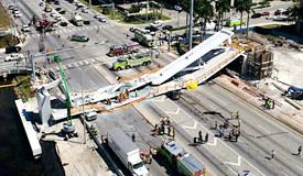 迈阿密一在建行人天桥坍塌 造成4人死亡