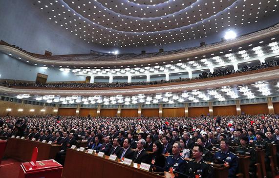 十三届全国人大一次会议第六次全体会议