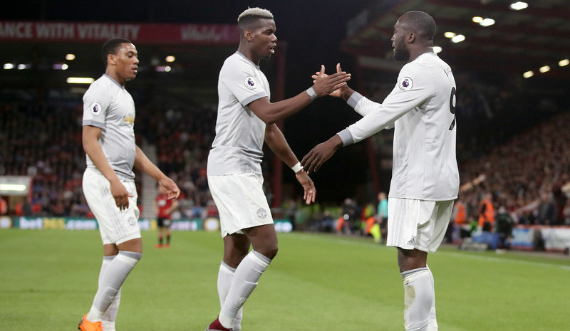 英超:斯马林、卢卡库破门 曼联2-0伯恩茅斯