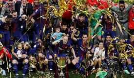 巴萨5-0大胜塞维利亚 夺国王杯四连冠