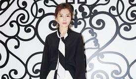 刘涛黑白裙装灵动优雅