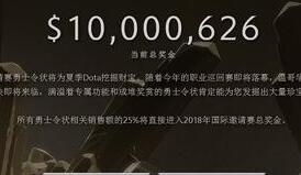 《Dota2》TI8奖池已达1000万美元