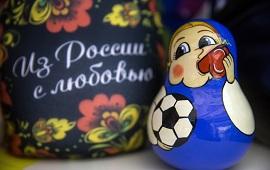 2018俄罗斯世界杯 套娃纪念品呆萌可爱
