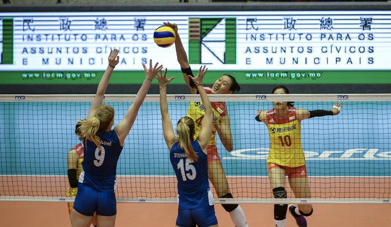 世界女排联赛澳门站:中国1-3负塞尔维亚