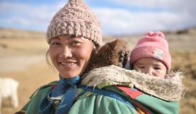 西藏高原上生活的人们