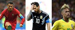 数据眼:C罗梅西内马尔 到底谁强C罗、梅西、内马尔已悉数亮相俄罗斯世界杯,从数据看看三人到底谁强。[阅读]