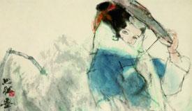 周思聰《雨中少女》
