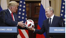 普京赠送特朗普世界杯用球