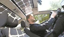 新型太阳能电动汽车:边行驶边充电