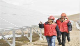 海拔最高光伏扶貧電站並網發電