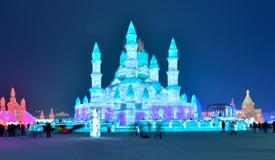 哈爾濱冰雪大世界美如童話