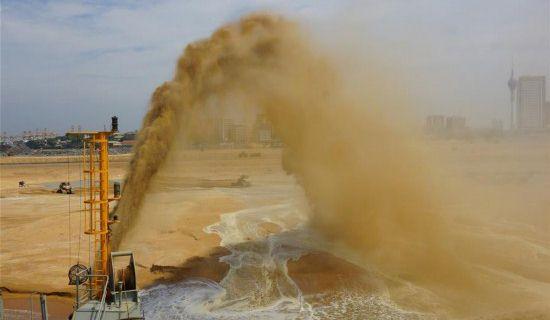 科倫坡港口城項目填海造地工程完工