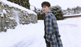 张翰瑞士雪景写真 发文疑似调侃直男自拍