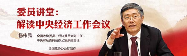 """委员讲堂""""第一期播出: 全国政协常委杨伟民解读中央经济工作会议"""