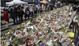 新西兰基督城民众持续悼念遇难者