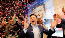 乌克兰大选:喜剧演员泽连斯基获绝对优势