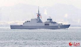 参加多国海军活动外方舰船特点鲜明