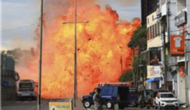 火光冲天!斯里兰卡第九起爆炸现场曝光