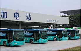 深圳建成大型电动汽车充电站