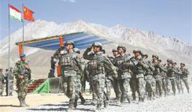 中塔武装力量联合反恐演练结束