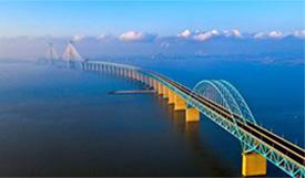 实拍沪通长江大桥建设过程
