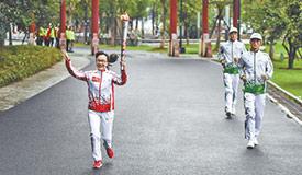 军运会圣火抵达武汉