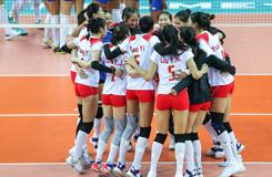 武汉军运会女排小组赛 中国3-0胜巴西