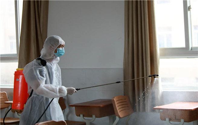 湖北武汉:校园消杀迎高考