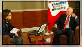 強國論壇獨家專訪美國財長保爾森