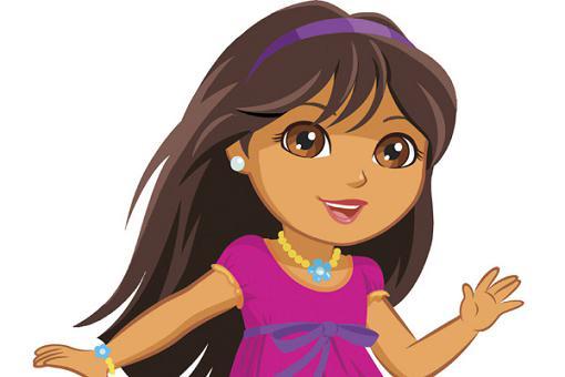 美国儿童女生明星小冒险家朵拉改头换面7配速卡通图片