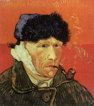 Imitation of famous paintings 10 people 39 s daily online - Van gogh autoportrait oreille coupee ...