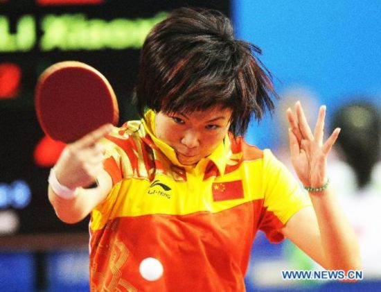 China beats India in women's table tennis quarterfinal - People's ...