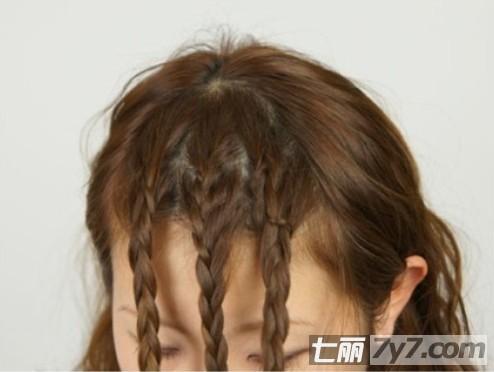刘海编发图解教程 清爽减龄的甜蜜小清新【6】