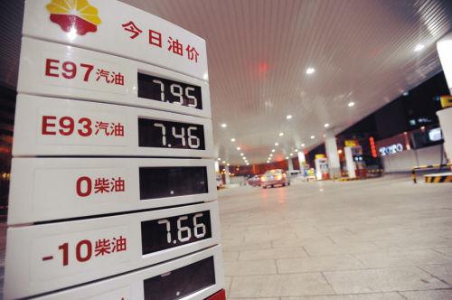 沈93号汽油降0.23元 今年油价已四涨四跌