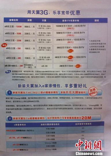 南京電信20M光纖寬帶上傳速度僅1M遭詬病
