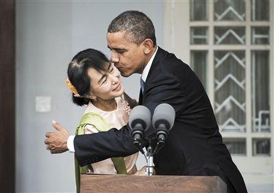 甸全国民主联盟领导人昂山素季.-奥巴马 历史性 访缅敦促改革图片