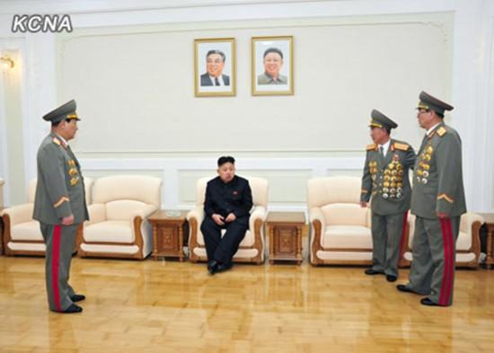 朝鲜最高领导人金正恩视察国家安全保卫部.-金正恩视察国家安全保