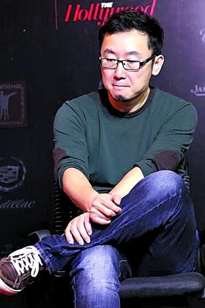 在上海電影節論壇上。