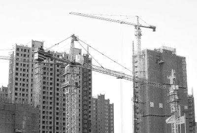 11月1日拍摄的济南城区一处在建商品房项目。记者 朱峥 摄