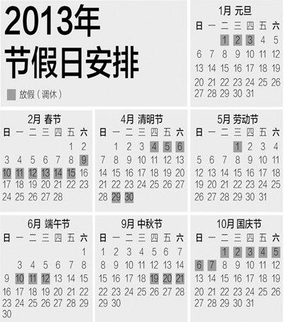 明年假期安排引争议 专家称完整假期为便于出行