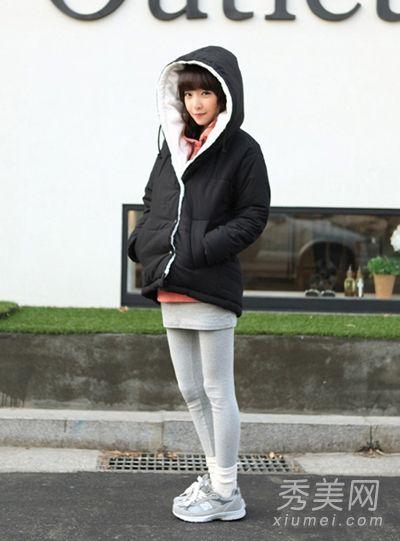 矮个子女生冬季搭配 棉衣巧穿高挑身材【图】