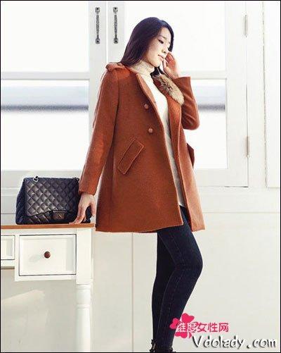 呢子大衣 高跟短靴 冬装显瘦苗条LOOK