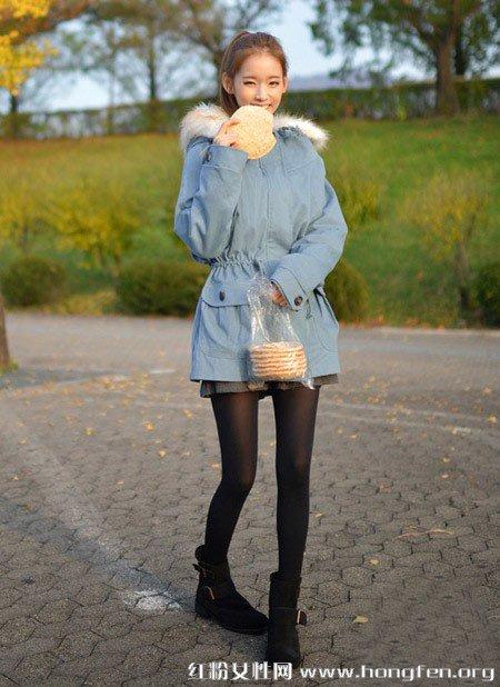矮个子女生显高装扮 2012冬装外套搭配