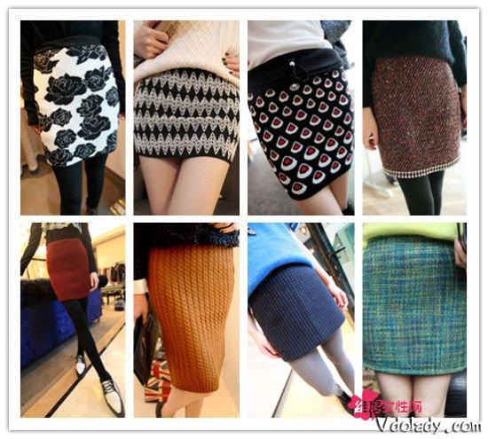 ...毛衣半身裙  包臀裙是女生们一年四季不变的钟爱,这款毛线包...